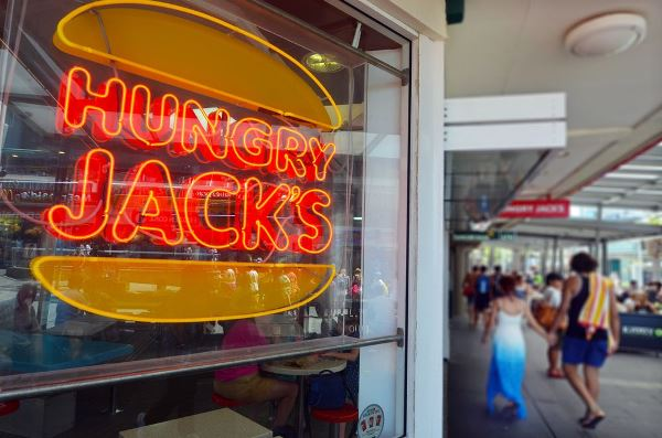 Burger King i Australia opererer under navnet Hungry Jack's.